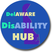 Picture of the Delaware Disability Hub logo