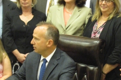 Photo of Governor Jack Markell Restraints and Seclusion Bill Signing, 2012